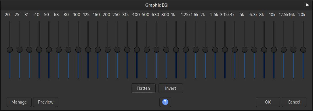 The Graphic EQ plugin